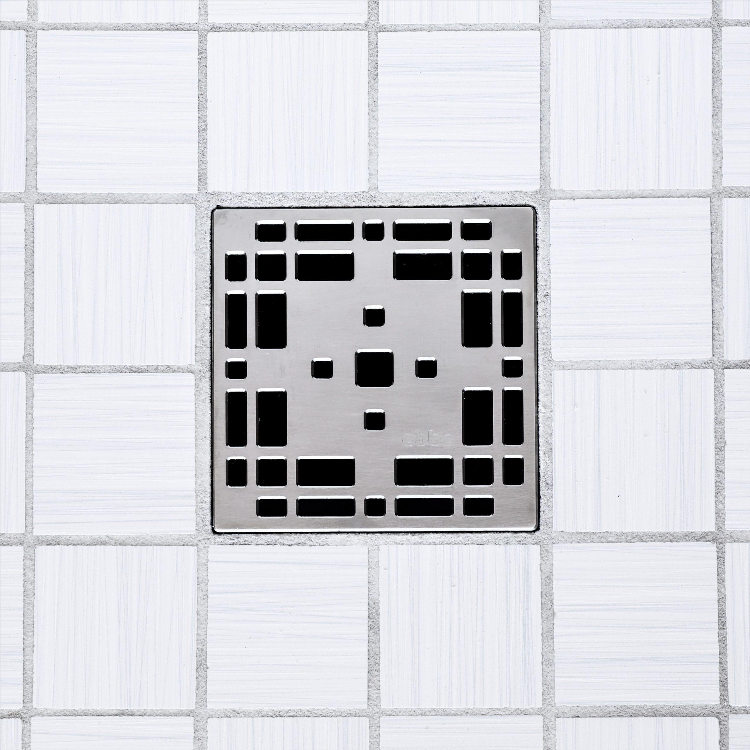 E4801-SN - Ebbe UNIQUE Drain Cover - PRAIRIE - Satin Nickel - Shower Drain - e