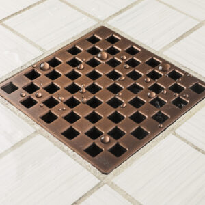 E4807-ORB - Ebbe UNIQUE Drain Cover - WEAVE - Oil Rubbed Bronze (PVD) - Shower Drain - aw