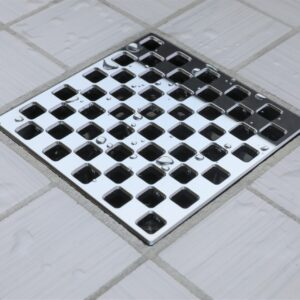 E4807-PC - Ebbe UNIQUE Drain Cover - WEAVE - Polished Chrome - Shower Drain - e