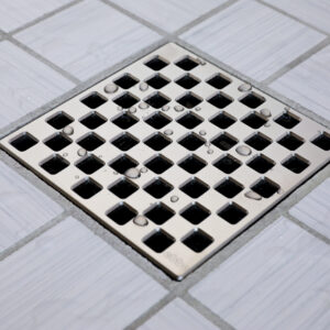 E4807-SN - Ebbe UNIQUE Drain Cover - WEAVE - Satin Nickel - Shower Drain - aw