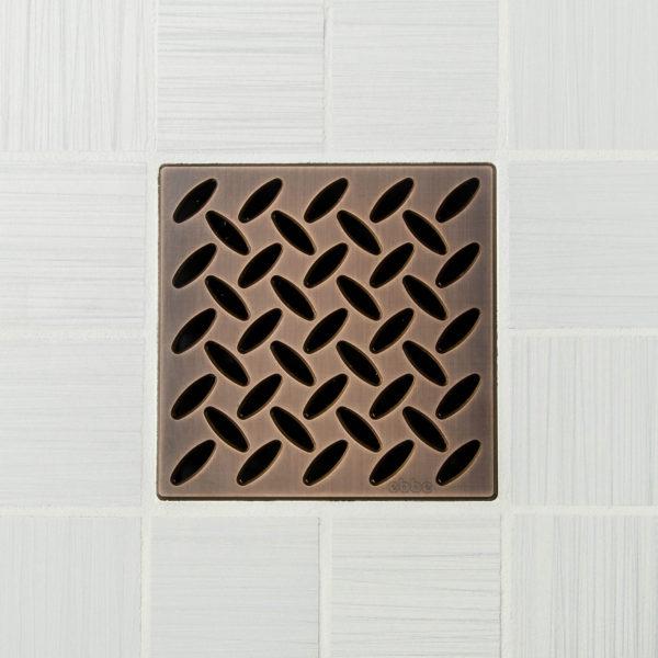 E4813-ORB - Ebbe UNIQUE Drain Cover - DIAMOND - Oil Rubbed Bronze - Shower Drain
