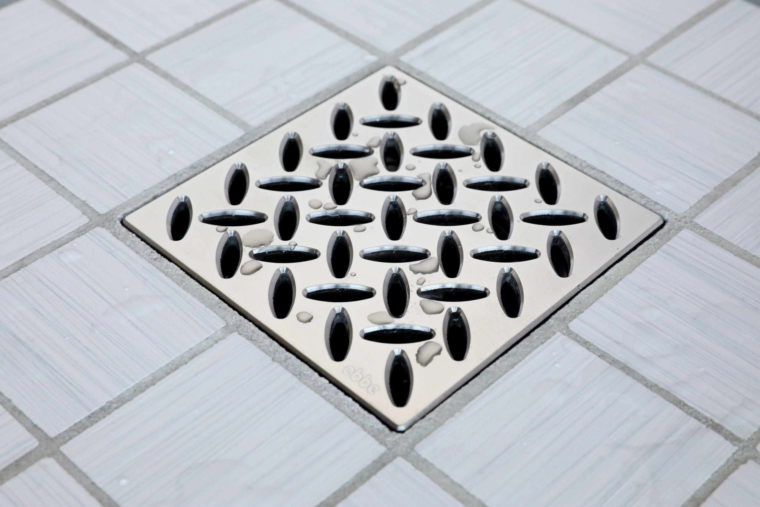 E4813-SN - Ebbe UNIQUE Drain Cover - DIAMOND - Satin Nickel - Shower Drain - aw