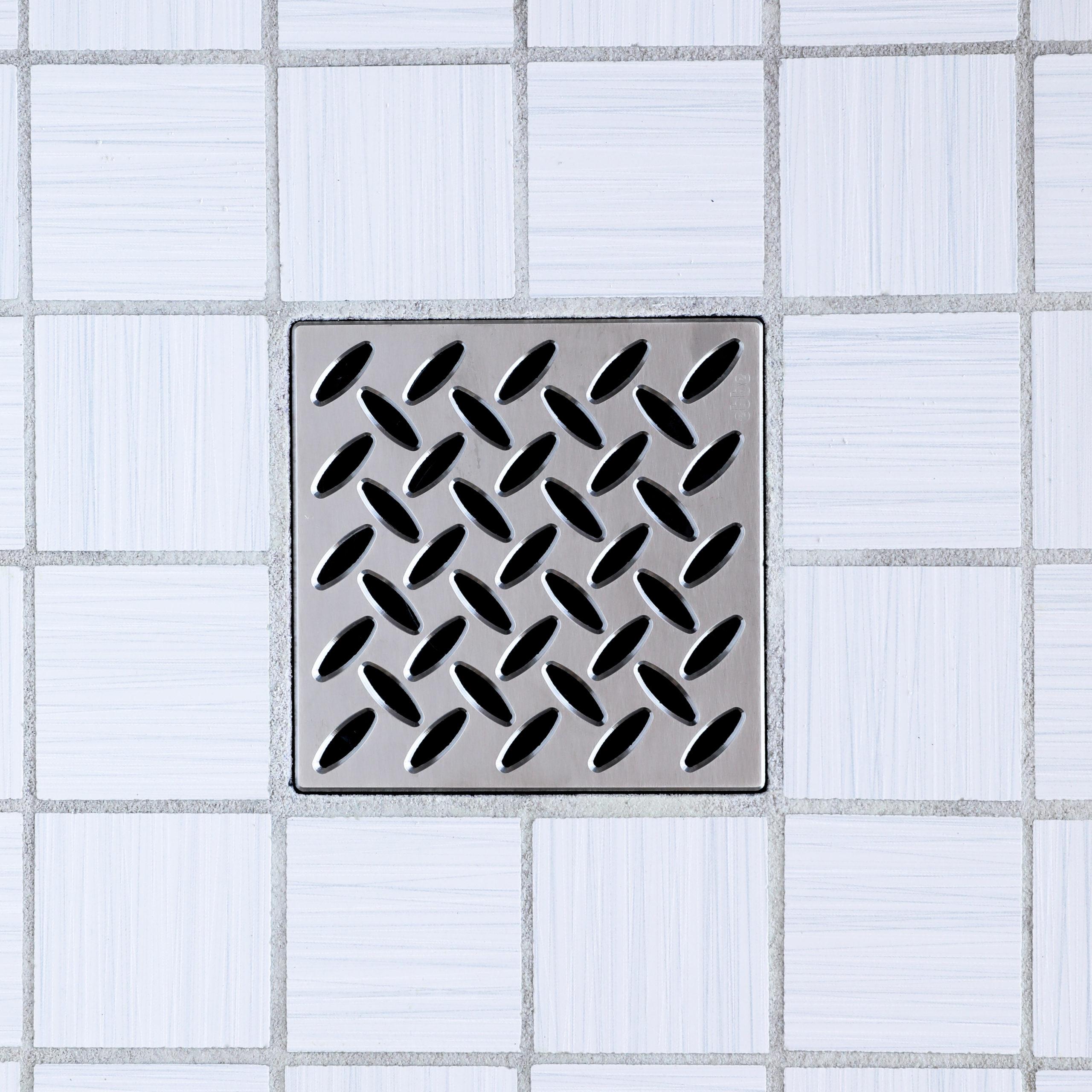 E4813-SN - Ebbe UNIQUE Drain Cover - DIAMOND - Satin Nickel - Shower Drain - tdd