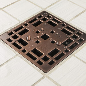 E4801-ORB - Ebbe UNIQUE Drain Cover - PRAIRIE - Oil Rubbed Bronze (PVD) - Shower Drain - aw1
