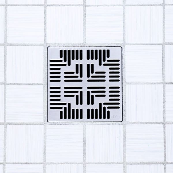 E4804-SS - Ebbe UNIQUE Drain Cover - NAVAJO - Satin Stainless Steel - Shower Drain - tdd