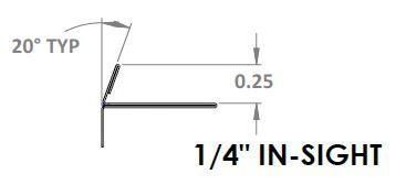 E6111 - 0.25in In-sight Ebbe INNI Trim Profile