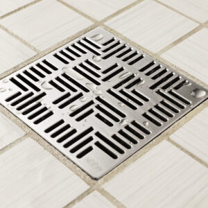 E4804-SS - Ebbe UNIQUE Drain Cover - NAVAJO - Satin Stainless Steel - Shower Drain - aw