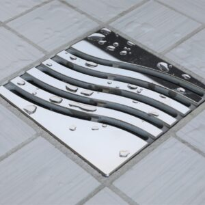 E4814-PS - Ebbe UNIQUE Drain Cover - TSUNAMI - Polished Stainless Steel - Shower Drain - e