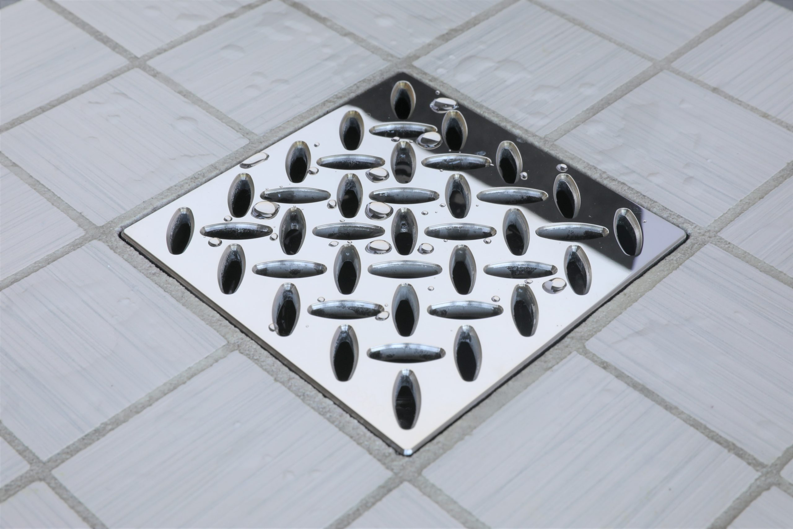 E4813-PS - Ebbe UNIQUE Drain Cover - DIAMOND - Polished Stainless Steel - Shower Drain - e