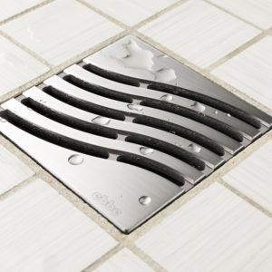 E4814-BS - Ebbe UNIQUE Drain Cover - TSUNAMI - Brushed Stainless Steel - Shower Drain - aw
