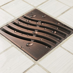 E4814-ORB - Ebbe UNIQUE Drain Cover - TSUNAMI - Oil Rubbed Bronze (PVD) - Shower Drain - aw