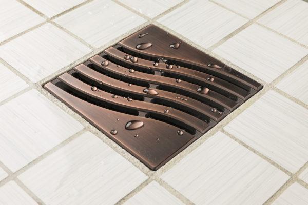 E4814-ORB - Ebbe UNIQUE Drain Cover - TSUNAMI - Oil Rubbed Bronze (PVD) - Shower Drain - aw