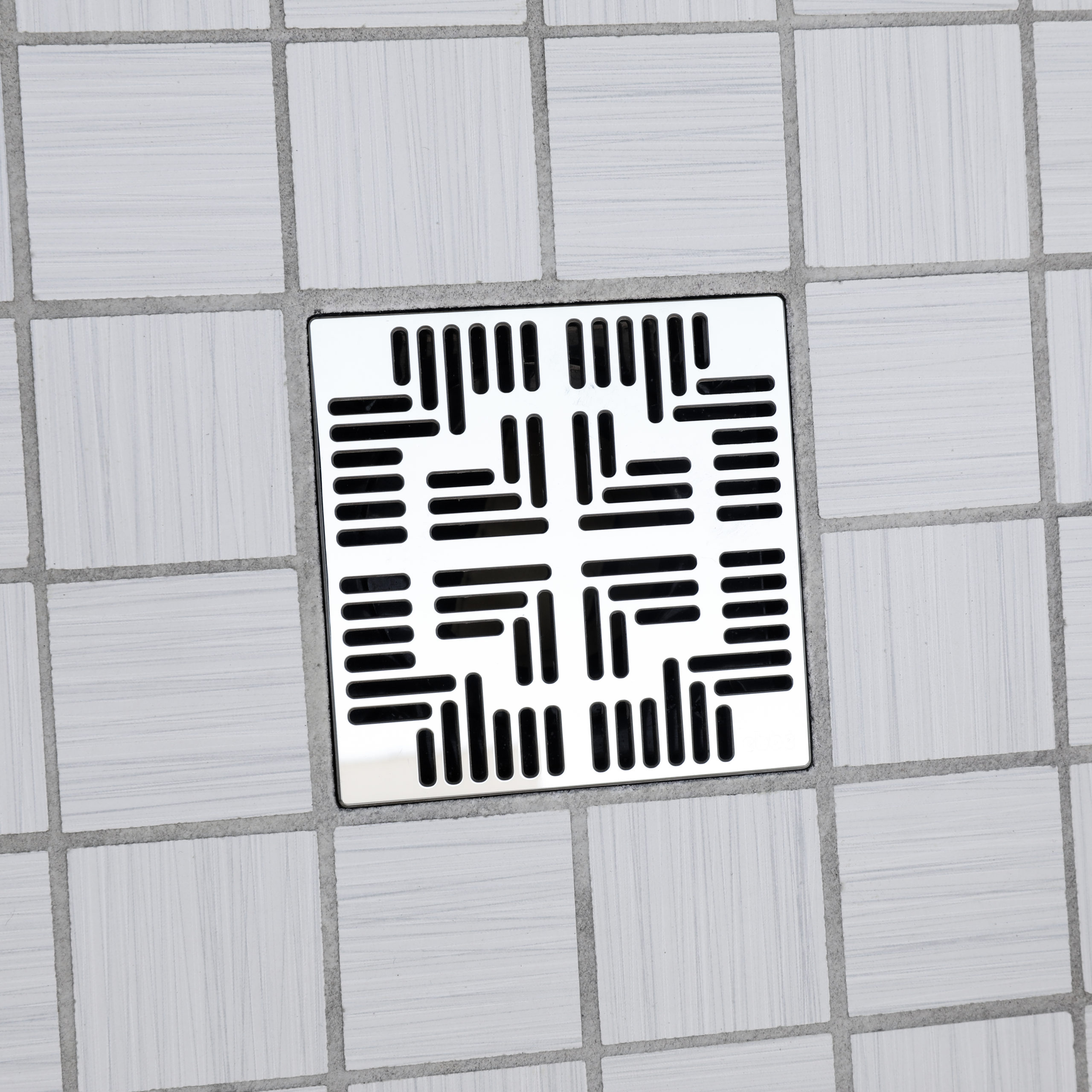 E4804-PS - Ebbe UNIQUE Drain Cover - NAVAJO - Polished Stainless Steel - Shower Drain - ad