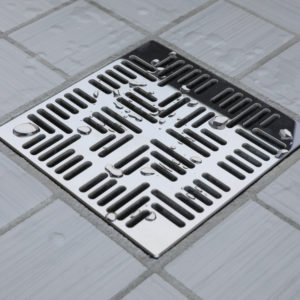 E4804-PS - Ebbe UNIQUE Drain Cover - NAVAJO - Polished Stainless Steel - Shower Drain - aw