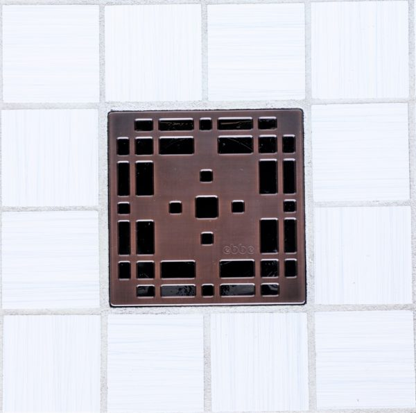 E4801-ORB - Ebbe UNIQUE Drain Cover - PRAIRIE - Oil Rubbed Bronze (PVD) - Shower Drain - e