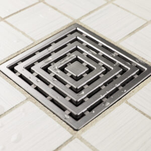 E4815-BS - Ebbe UNIQUE Drain Cover - FRAMES - Brushed Stainless Steel - Shower Drain - aw