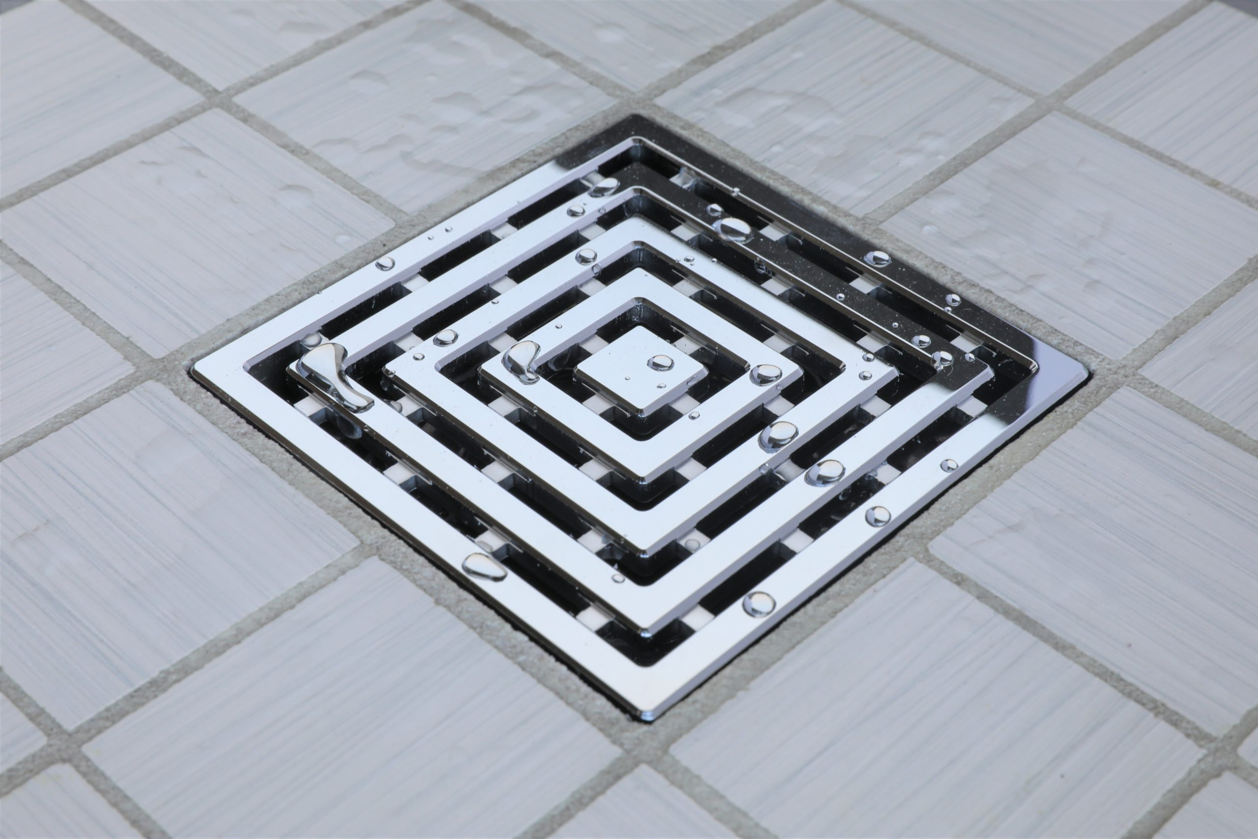 E4815-PS - Ebbe UNIQUE Drain Cover - FRAMES - Polished Stainless Steel - Shower Drain - aw