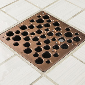 E4812-ORB - Ebbe UNIQUE Drain Cover - BUBBLES - Oil Rubbed Bronze - Shower Drain - aw