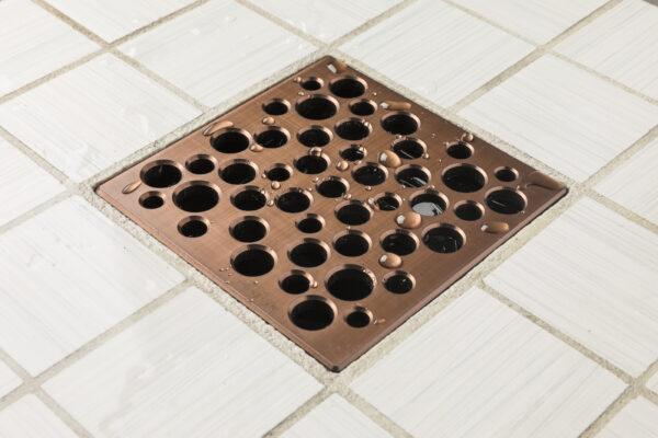 E4812-ORB - Ebbe UNIQUE Drain Cover - BUBBLES - Oil Rubbed Bronze - Shower Drain - aw