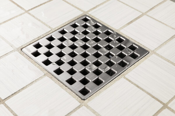 E4807-BS - Ebbe UNIQUE Drain Cover - WEAVE - Brushed Stainless Steel - Shower Drain - aw